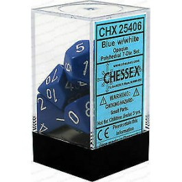 Blue/White Opaque Dice (Chessex)