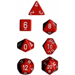 Red Opaque Dice