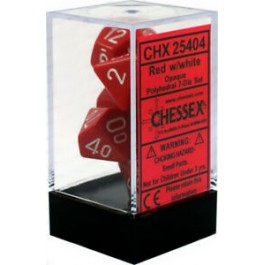 Red/White Opaque Dice (Chessex)