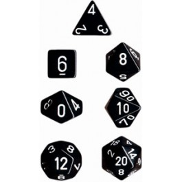 Black Opaque Dice