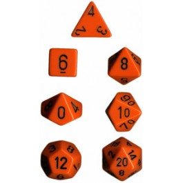 Orange Opaque Dice
