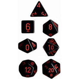 Black/Red Opaque Dice