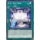 F.A. Test Run