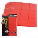 Hojas Pro-Pages 9-Pocket Roja (BCW)