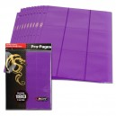 Hojas Pro-Pages 9-Pocket Moradas (BCW)