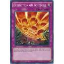 Extinction on Schedule