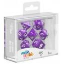 Purple/White Solid Dice (Oakie Doakie)
